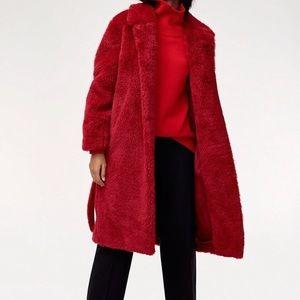 ARITZIA BABATON // Oren teddy bear plush robe coat